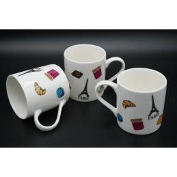 """Set 6 tazzine ceramica """"Paris"""""""